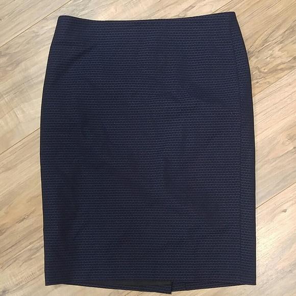 Lord Taylor Skirts Lord Taylor 4 Petite Blue Black Dress Skirt